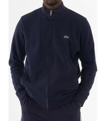 lacoste zip-up fleece sweatshirt - navy sh4317