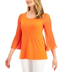 jm collection 3/4-sleeve scoop-neck top, created for macy's