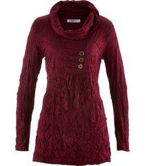 tunica a manica lunga in tessuto crinkle (rosso) - bpc bonprix collection