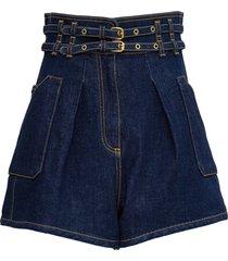 philosophy di lorenzo serafini high waisted shorts with double belt