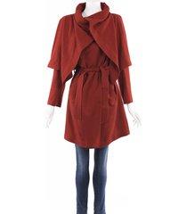ann demeulemeester wool silk cape jacket