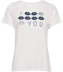kiss t-shirt top vit missya