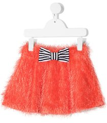 wauw capow by bangbang fluffy ribbon skirt - red
