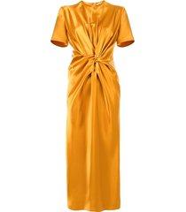 ports 1961 twisted midi dress - yellow