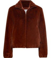 loulou jacket 11107 outerwear faux fur bruin samsøe samsøe