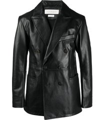 alexander mcqueen double-breasted multi-pocket jacket - black