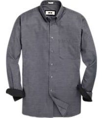 joseph abboud woven black check sport shirt