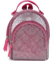 mochila petite jolie glitter incolor/rosa - kanui