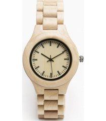 reloj pulsera madera beige millam
