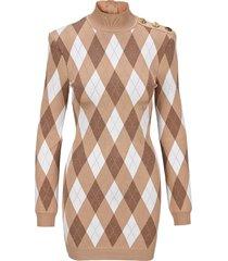 balmain diamond pattern dress