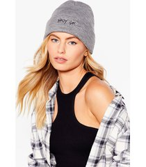 womens nothing but a knit beanie - light grey