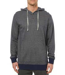 men's o'neill mapped out pullover hoodie, size small - blue