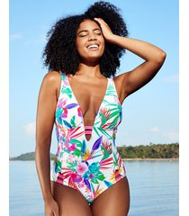 bora bora non wired plunge tummy control one-piece swimsuit