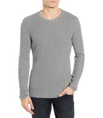 men's billy reid regular fit waffle crewneck pullover, size xx-large - grey