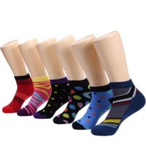 mio marino men's bold collection ankle socks pack of 6