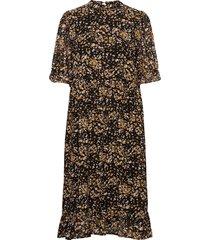 slfelina ss dress ex jurk knielengte zwart selected femme