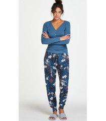 hunkemöller petite pyjamasbyxor i jersey blå