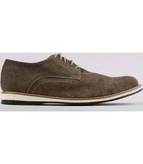 sapato masculino oneself em couro com cadarço marrom