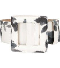 carolina herrera tie-dye print belt - white