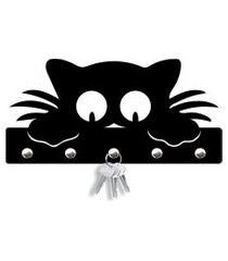 porta chaves olhar do gato love decor preto