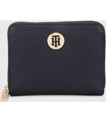 billetera azul oscuro-dorado tommy hilfiger