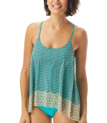 coco reef current printed underwire tankini top women's swimsuit