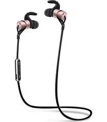 audífonos bluetooth, d9 deportes inalámbrico audifonos bluetooth manos libres  auricular anti-sudor auriculares de metal earbuds auriculares con micrófono en la oreja para iphone smartphones (oro rosa)