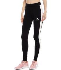 leggings puma classics logo t7 negro - calce ajustado