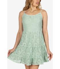 speechless juniors' lace tiered dress