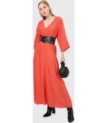 vestido naranja paris district
