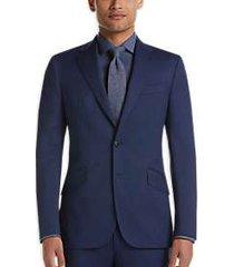 joseph abboud blue nailhead check slim fit suit