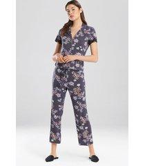 primrose- josie jammie pajamas, women's, slate, size l natori
