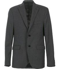 dark grey wool relaxed suit jacket grey