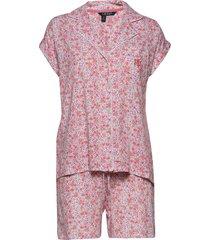 lrl drop shoulder boxer pj set short sl. pyjama roze lauren ralph lauren homewear