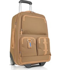 piquadro designer travel bags, land - carry-on trolley