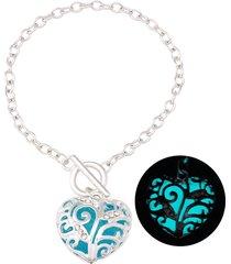 braccialetti di fascino cuore alla moda incandescente luminoso nei braccialetti scuri miglior regalo per le donne