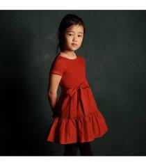 little girls tiered stretch interlock dress