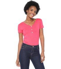 blusa lunender botões rosa