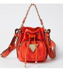river island womens orange mini nylon duffle bag