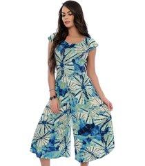 macacão ciganinha b bonnie pantacourt layla  tie dye azul - kanui