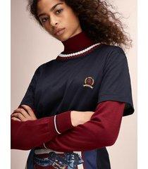 tommy hilfiger women's hilfiger collection varsity t-shirt deep well - s