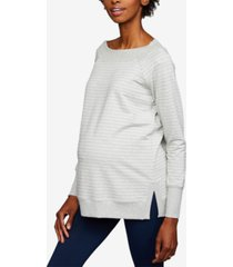 a pea in the pod maternity striped sweatshirt