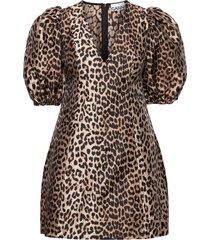 crispy jacquard dresses party dresses brun ganni