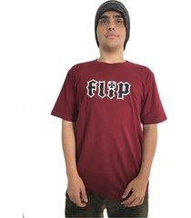 camiseta flip skateboards hkd logo burgundy vinho