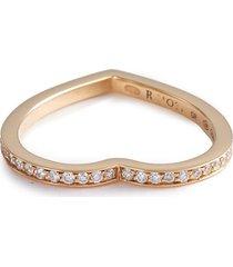 'antifer' diamond 18k rose gold single row ring