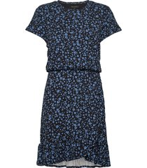 flounce-hem t-shirt dress korte jurk blauw banana republic