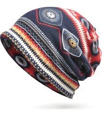 donna berretto beanie comodo con stampato antivento multifunzionale sciarpa collo