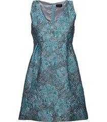 3381 - clair korte jurk blauw sand