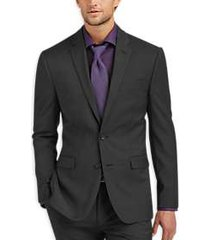 awearness kenneth cole awear-tech charcoal extreme slim fit suit separates coat