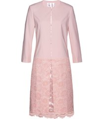blazer lungo con pizzo premium (rosa) - bpc selection premium